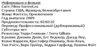 Воображариум доктора Парнаса (HDRip, 2009)