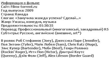 Глоток (BDRip, 2009)