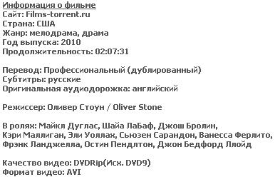 Уолл Стрит. Деньги не спят (DVDRip, 2010)