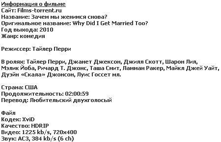 Зачем мы женимся снова (2010)