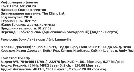 Список клиентов (2010)