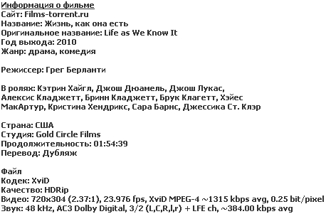 �����, ��� ��� ���� (HDRip, 2010)