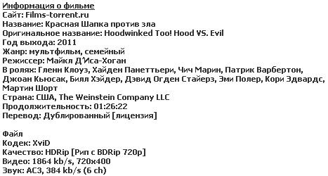 Красная Шапка против зла (2011)