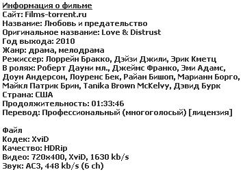 Любовь и предательство (2011)