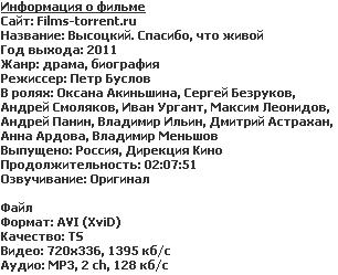 Высоцкий. Спасибо, что живой (2011)