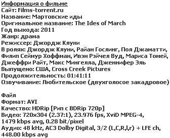 Мартовские иды (2011)