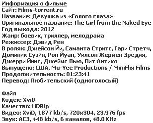 Девушка из «Голого глаза» (2012)