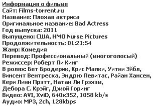 Плохая актриса (2011)