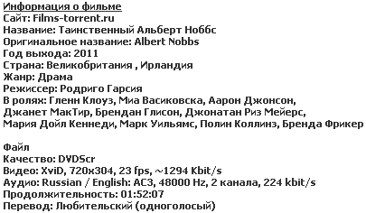 Таинственный Альберт Ноббс (2011)