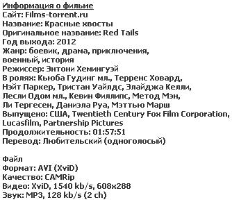 Красные xвосты (2012)