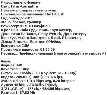 Смертельный список (2011)