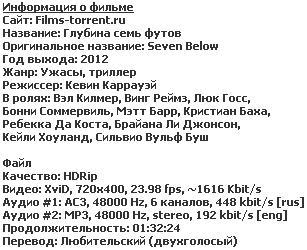 Глубина семь футов (2012)