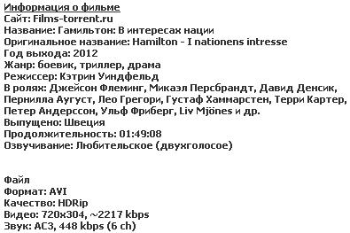 Гамильтон: В интересах нации (2012)