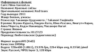 Красные слёзы