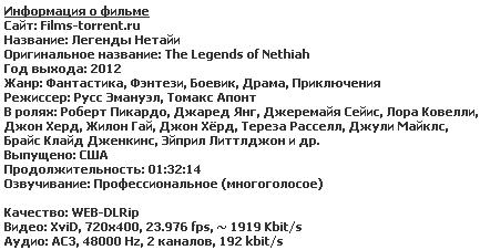 Легенды Нетайи