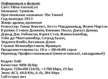 Туннель / The Tunnel