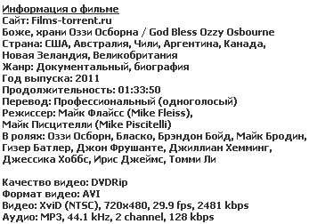 Боже, храни Оззи Осборна / God Bless Ozzy Osbourne