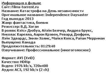 Катастрофа на День независимости / Independence Daysaster