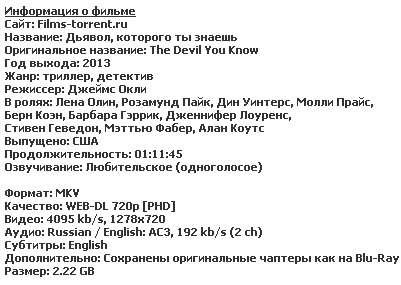 Дьявол, которого ты знаешь