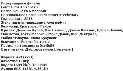 Лето в феврале
