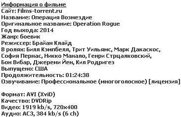 Операция Возмездие (2014)