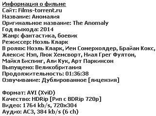 Аномалия (2014)