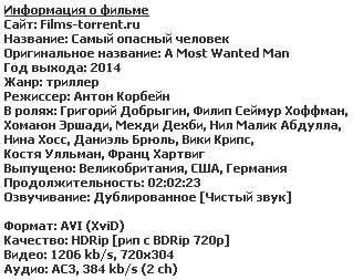 Самый опасный человек (2014)