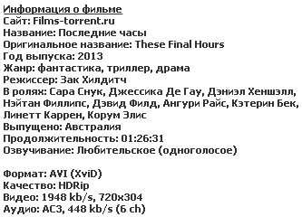 Последние часы (2013)