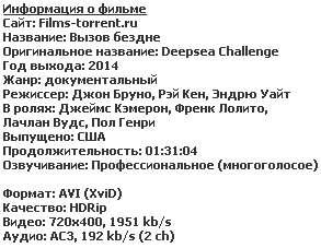 Вызов бездне (2014)