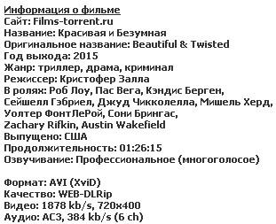 Красивая и Безумная (2015)