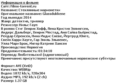 Стеклянные марионетки (2014)