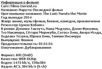 Наруто: Последний фильм (2014)
