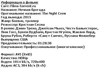 Ночная бригада (2015)