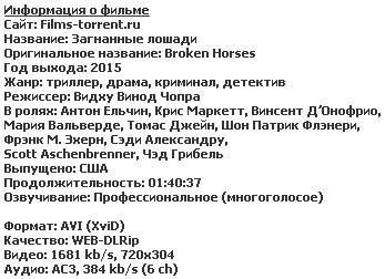 Загнанные лошади (2015)