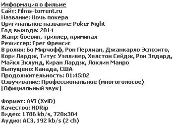 Ночь покера (2014)