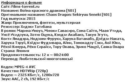 Драконий хаос: Война красного дракона (2015)