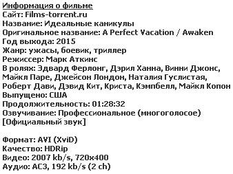 Идеальные каникулы (2015)