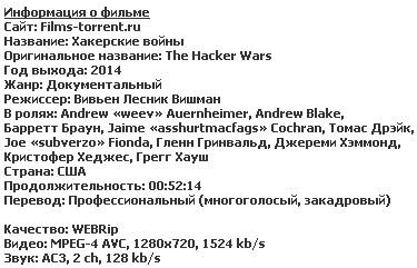 Хакерские войны (2014)