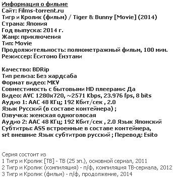 Тигр и Кролик (2014)