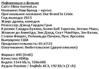 Наш бренд – кризис (2015)