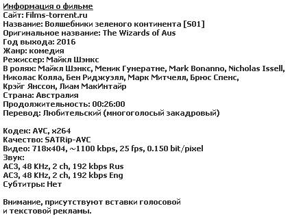 Волшебники зеленого континента (2015)