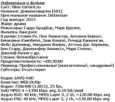 Диккенсовщина (2015)
