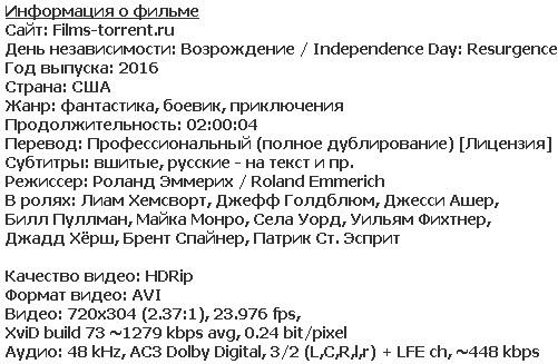 День независимости: Возрождение (2016)