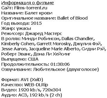 Балет крови (2015)