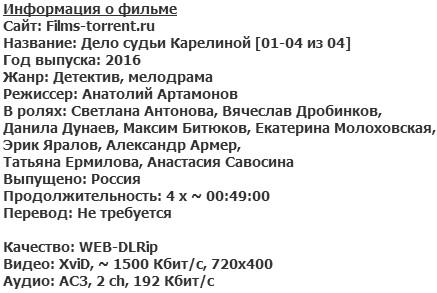 Дело судьи Карелиной (2016)