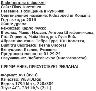 Похищение в Румынии (2016)