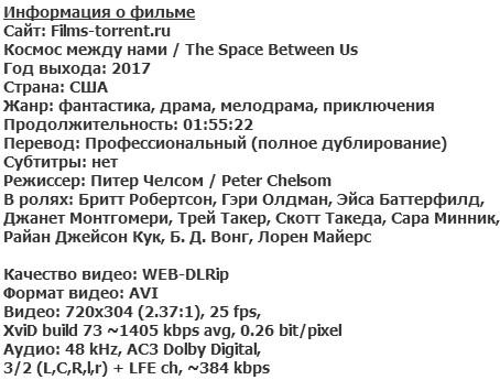Космос между нами (2017)