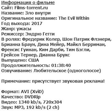 Зло внутри (2017)