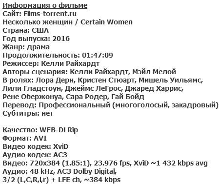 Несколько женщин (2016)
