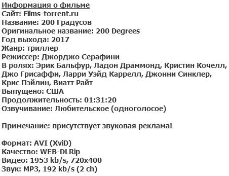 200 Градусов (2017)